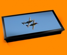 P 51 Mustang x2 North American Aviation Plane Cushion Laptop Tray