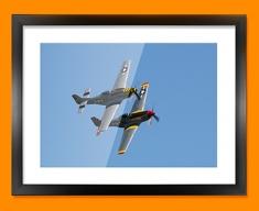 P 51 Mustang x2 North American Aviation Plane Framed Print