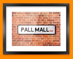Pall Mall UK Street Sign Framed Print