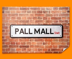 Pall Mall UK Street Sign Poster