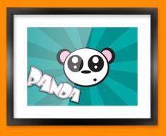 Panda Framed Print
