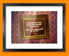 Parental Justice Heart Warmer Framed Print