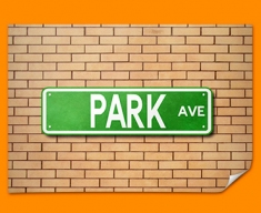Park Ave US Street Sign Poster