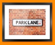 Park Lane UK Street Sign Framed Print