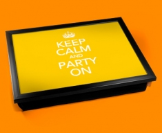 Party On Keep Calm Cushion Lap Tray