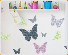 Patterned Butterflies Set Wall Sticker