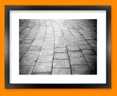 Paving Framed Print