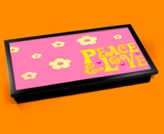 Peace & Love Laptop Lap Tray