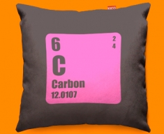 Periodic Table Carbon Funky Sofa Cushion 45x45cm