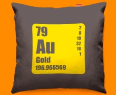 Periodic Table Gold Funky Sofa Cushion 45x45cm
