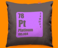 Periodic Table Platinum Funky Sofa Cushion 45x45cm