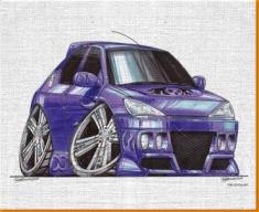 Peugeot 306 Canvas Art Print