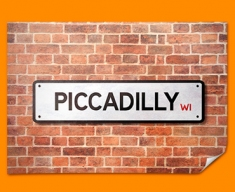Piccadilly UK Street Sign Poster