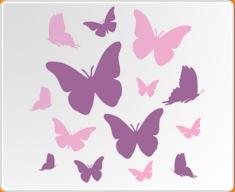 Pink & Violet Butterflies Set Wall Sticker