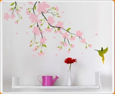 Pink Blossom Wall Sticker