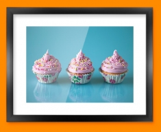 Pink Cupcakes Framed Print