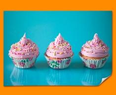 Pink Cupcakes Poster