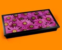 Pink Daisies Laptop Lap Tray