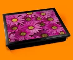 Pink Daisies Cushion Lap Tray