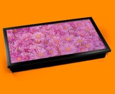 Pink Flowers Laptop Lap Tray