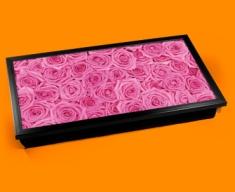 Pink Roses Laptop Lap Tray