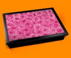 Pink Roses Cushion Lap Tray