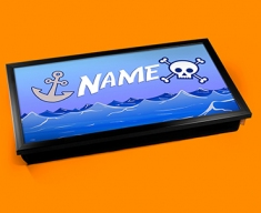 Pirate Personalised Childrens Name Cushioned Laptop Lap Tray