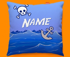 Pirate Personalised Childrens Name Sofa Cushion