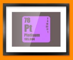 Platinum Periodic Element Framed Print