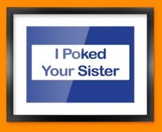 Poke Sister Framed Print
