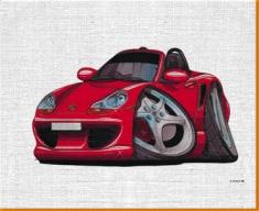 Porsche Boxter Canvas Art Print
