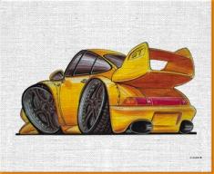 Porsche GT Canvas Art Print