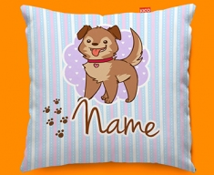 Puppy Personalised Childrens Name Sofa Cushion