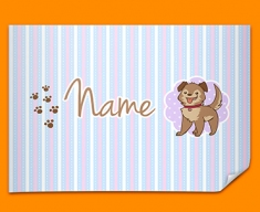 Puppy Personalised Childrens Name Poster