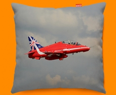 RAF Red Arrows Plane Sofa Cushion