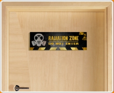Radiation Zone Children's Bedroom Door Sign