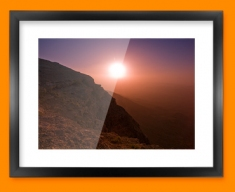 Ramon Crater Framed Print