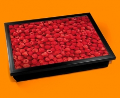 Raspberries Cushion Lap Tray