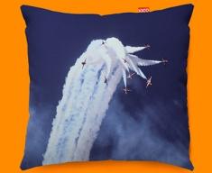 Red Arrows Clouds Plane Sofa Cushion