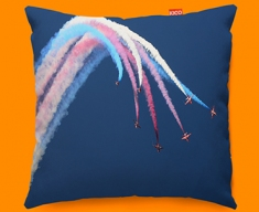 Red Arrows Plane Sofa Cushion