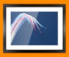 Red Arrows Plane Framed Print