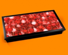 Red Baubles Laptop Lap Tray