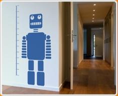 Robot Height Chart Wall Sticker