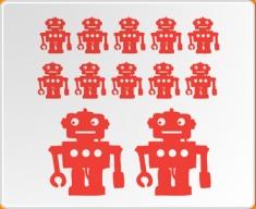 Robot Set 12 Wall Sticker