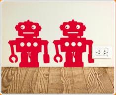 Robot Set 4 Wall Sticker