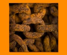Rusty Chain Napkins (Set of 4)