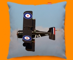 SE5a Royal Aircraft Factory Plane Sofa Cushion