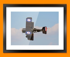 SE5a Royal Aircraft Factory Plane Framed Print