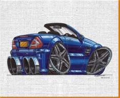 SL65 AMG Canvas Art Print