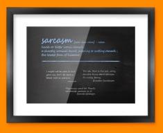 Sarcasm Definition Framed Print